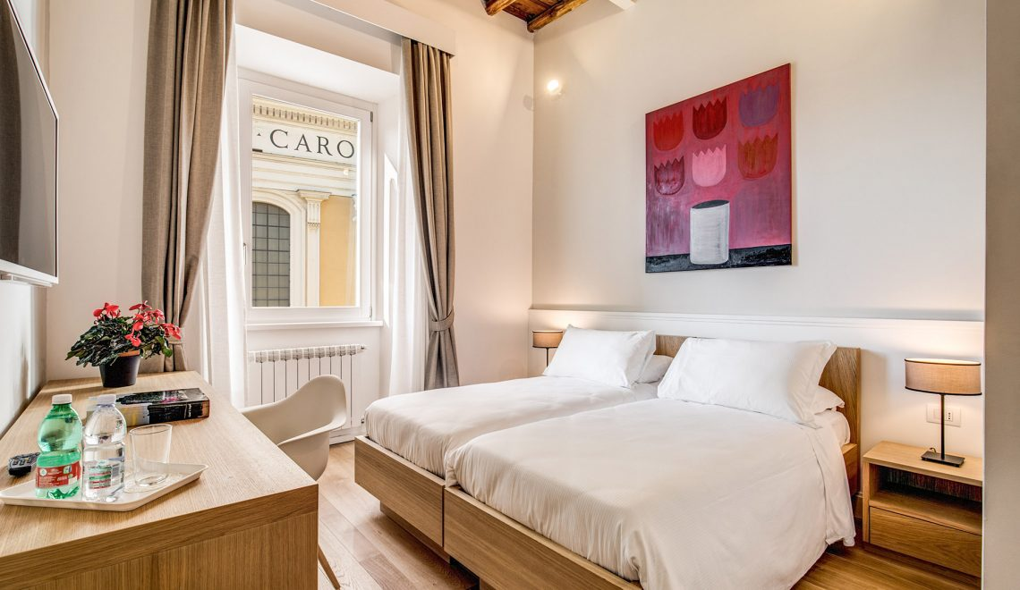Camera matrimoniale / doppia con letti singoli – Boutique hotel Roma ...